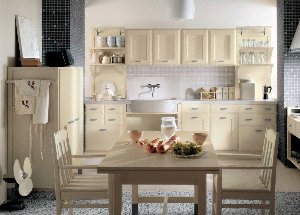 Cocina clásica en tonos beige :: Imágenes y fotos
