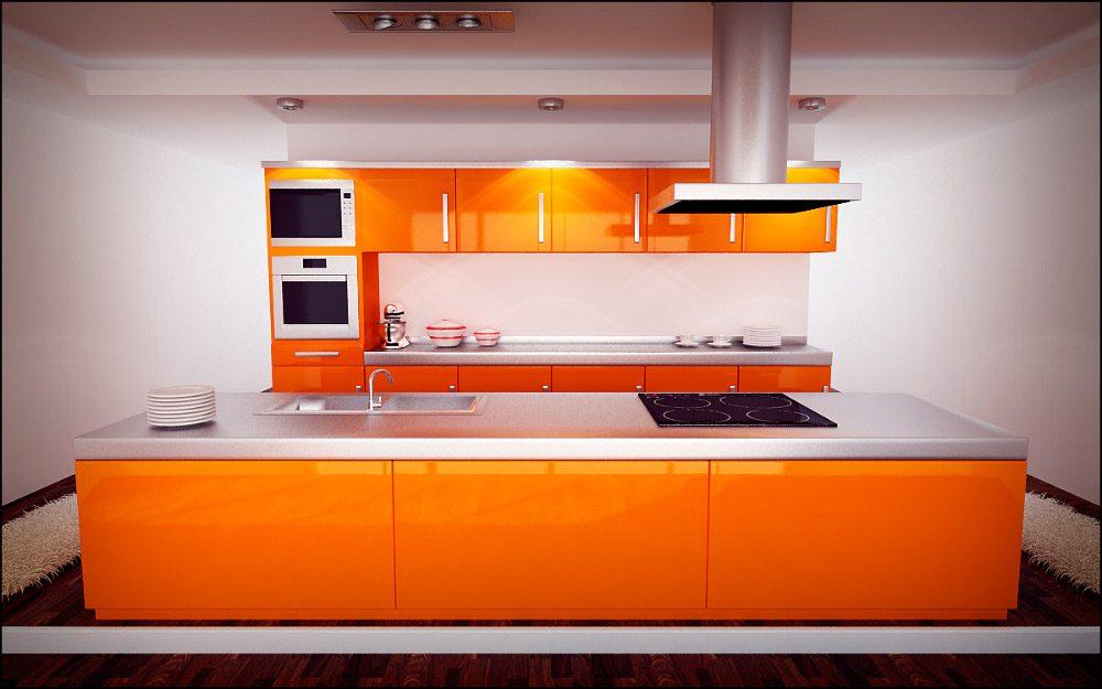 Cocina naranja im genes y fotos - Cocina blanca y naranja ...