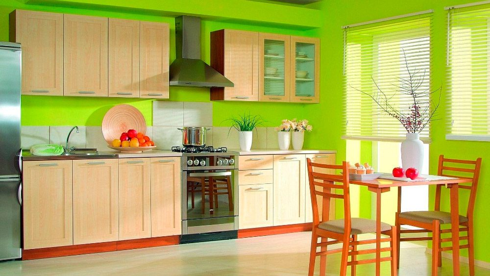 Cocina verde :: Imágenes y fotos