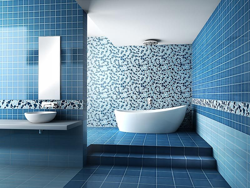 Baño Azul Decoracion:Blue Bathroom Wall Tile Ideas