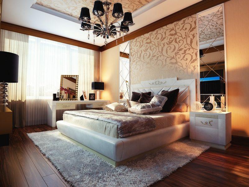 Galer a de im genes decoraci n en color beige - Dormitorio beige ...