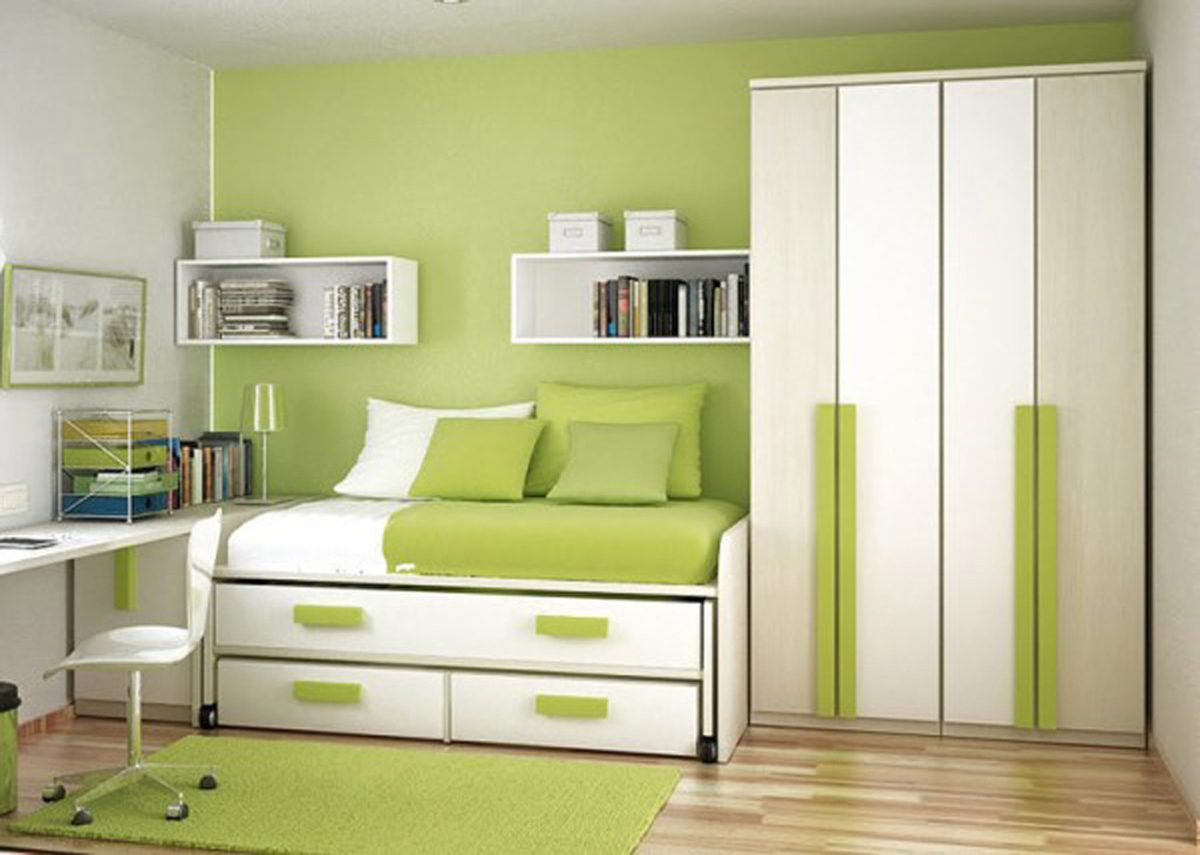 Galer a de im genes decoraci n en color verde - Color habitacion nino ...