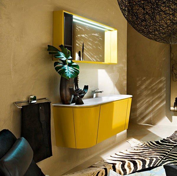 Mueble Baño Infantil:Muebles de baño amarillos