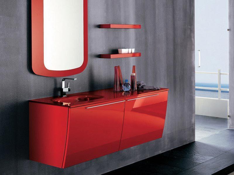 Muebles De Baño Rojos:Muebles de baño rojos
