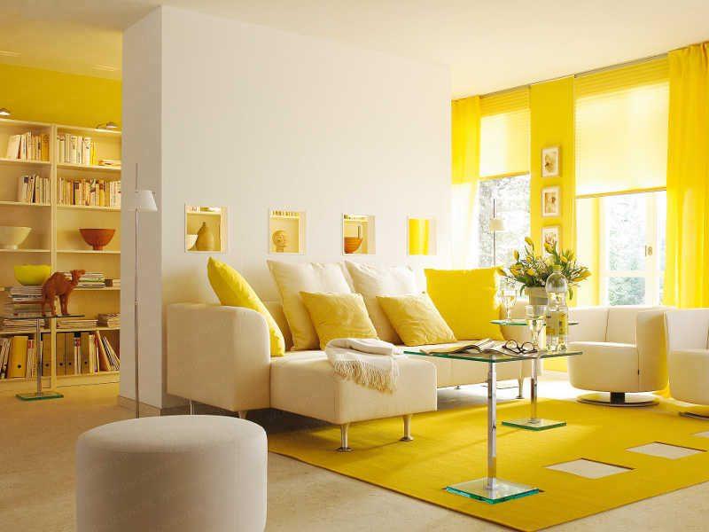 Galer a de im genes decoraci n en color amarillo - Decoracion salon amarillo ...