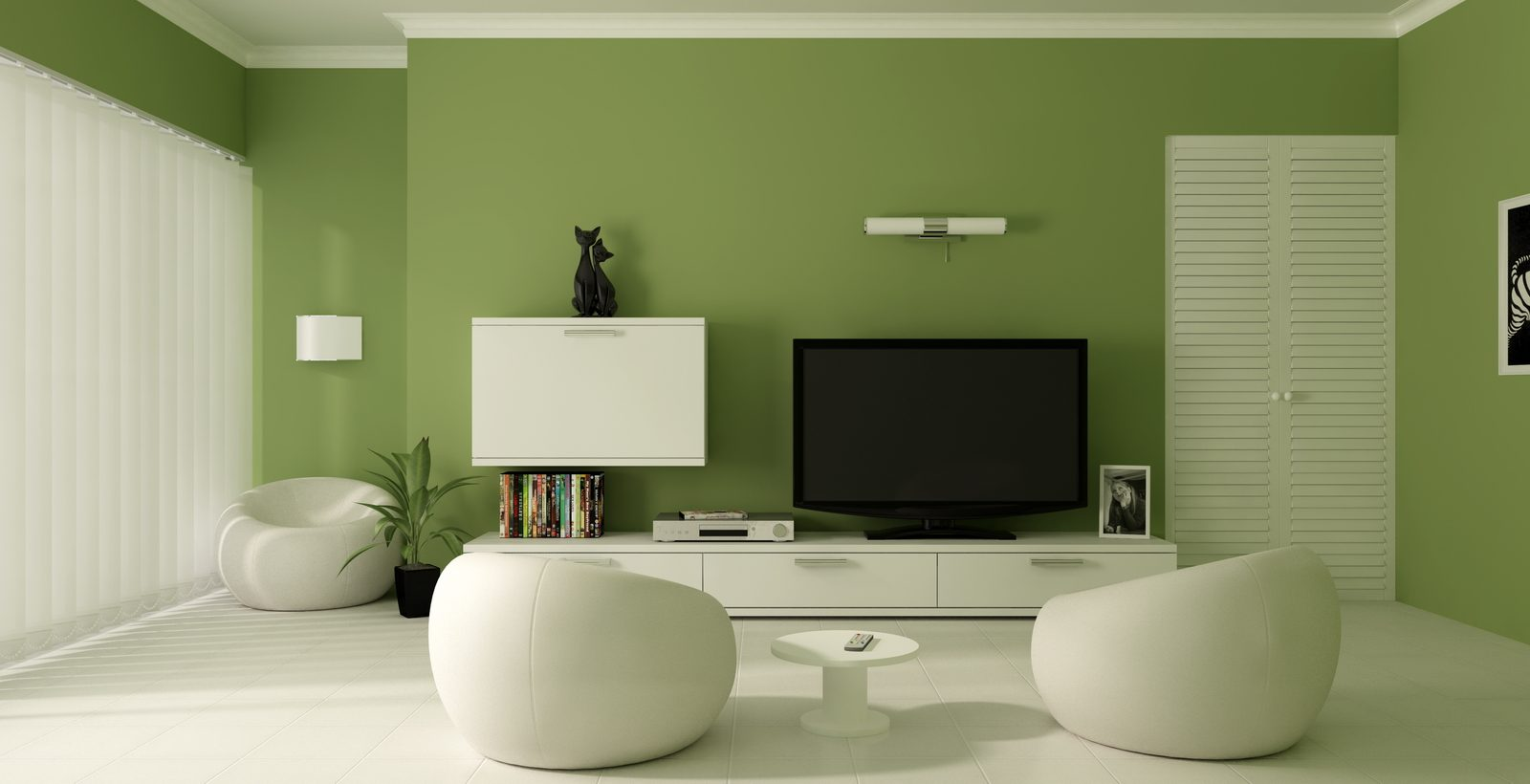 Galería de imágenes: Decoración en color verde