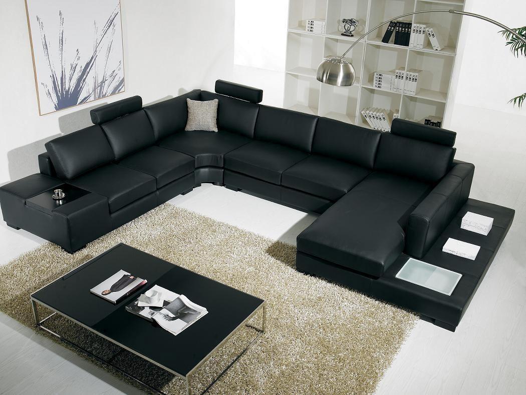 Sof s negros modernos im genes y fotos - Fotos de sofas modernos ...